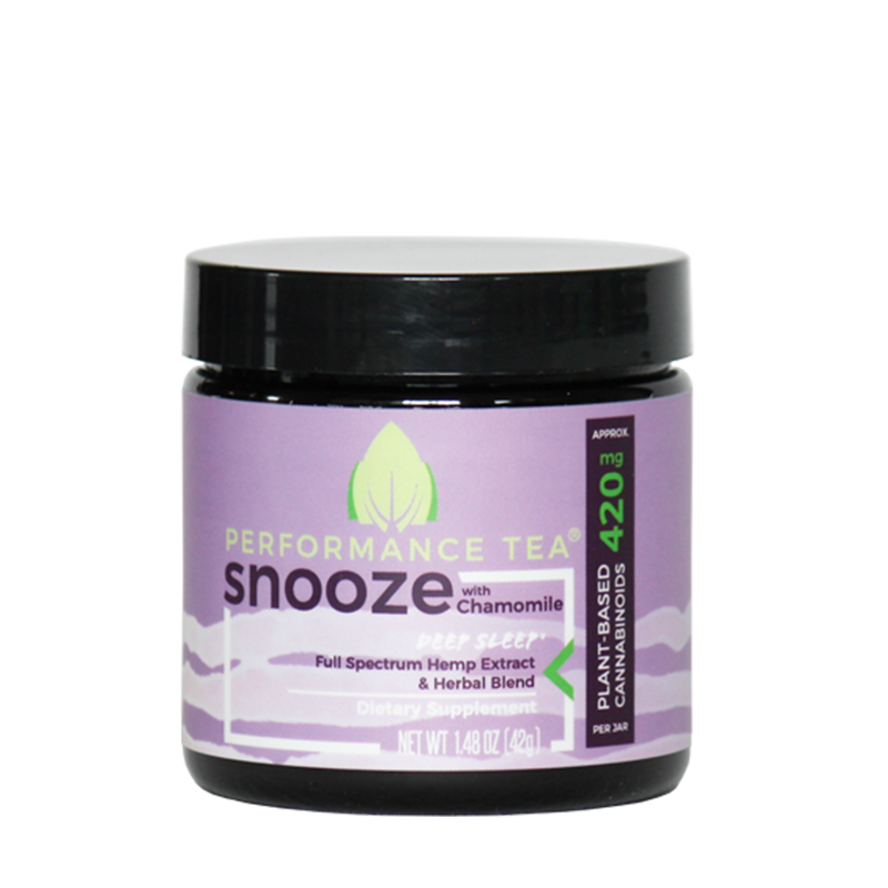 Performance Tea, Snooze CBD Blend- 420mg, 1.48oz (a Beverage) made by Performance Tea sold at CBD Emporium