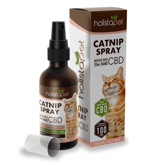 Holistapet CBD Infused Cat Nip Spray - 100mg, 1oz-CBD Emporium
