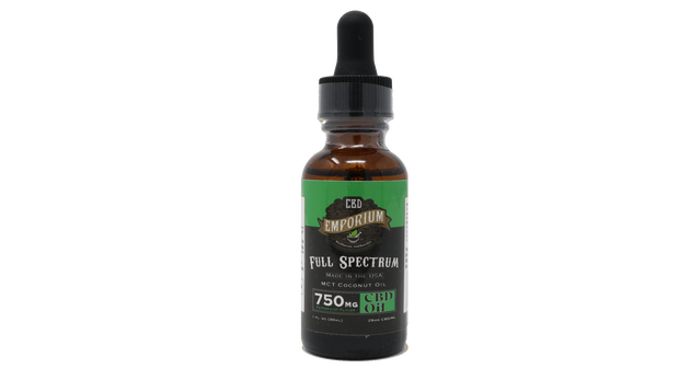 CBD Emporium Full Spectrum Tincture, Peppermint - 750mg, 1oz
