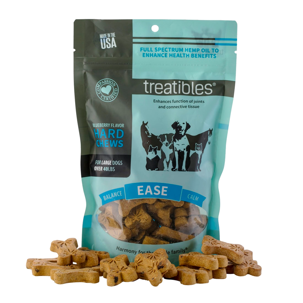 Treatibles Hard Chews, Blueberry Flavor (Ease) - Canine, Large (a Pets) made by Treatibles sold at CBD Emporium