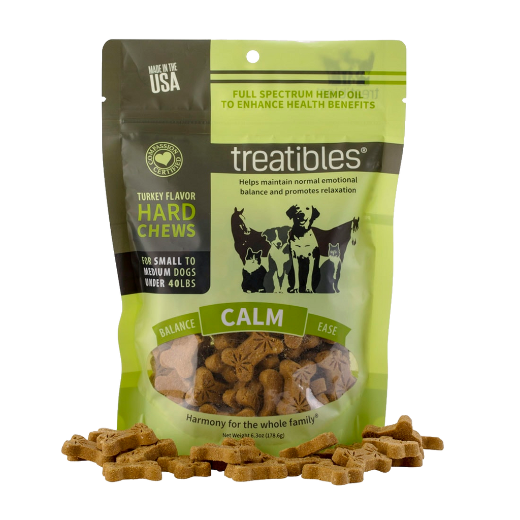Treatibles Hard Chews, Turkey Flavor (Calm) - Canine, Small (a Pets) made by Treatibles sold at CBD Emporium