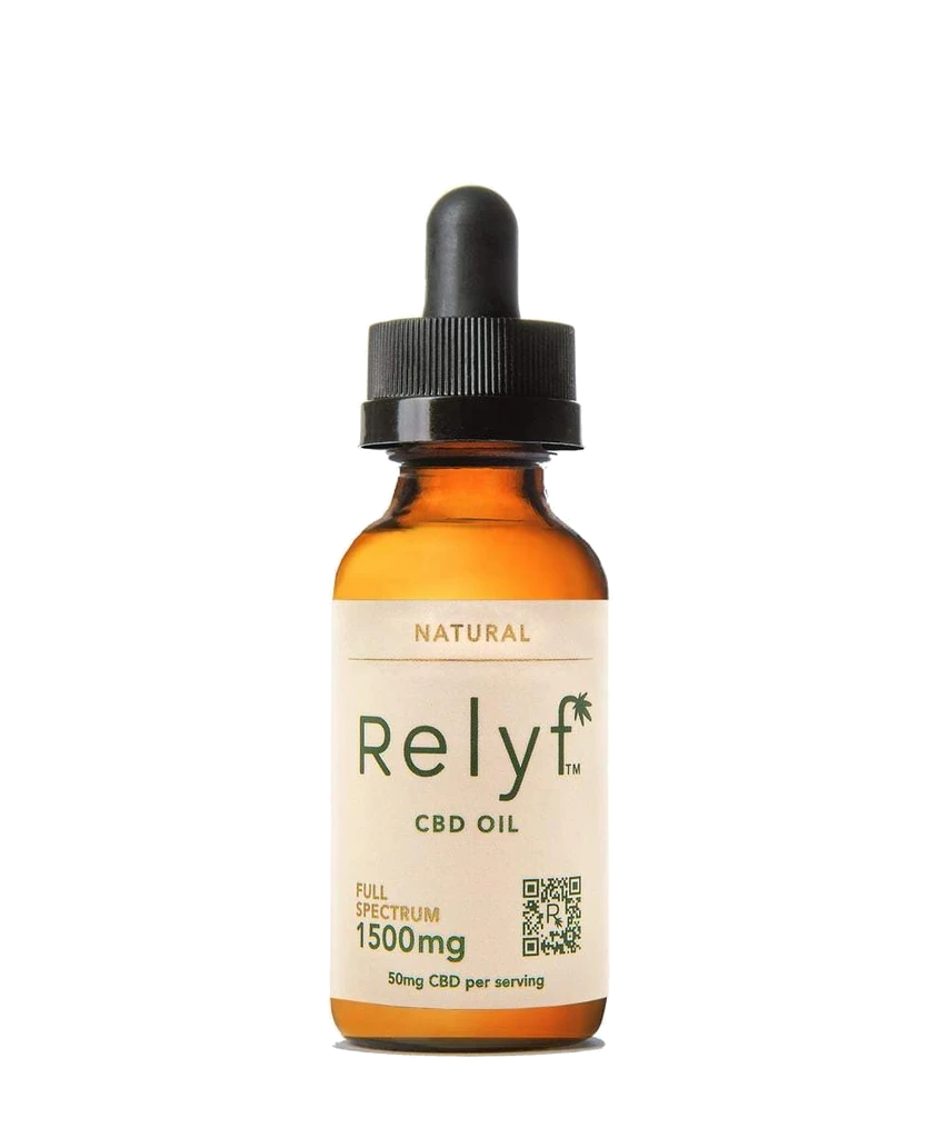 Relyf Full Spectrum Tincture, Natural - 1,500mg, 1oz (a Tincture) made by Relyf sold at CBD Emporium