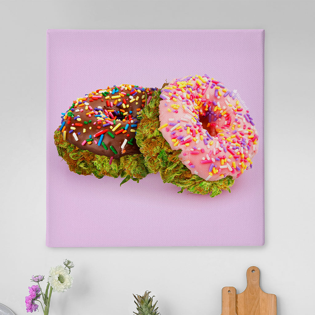 """Donut Leave Your House, Please"" Canvas"