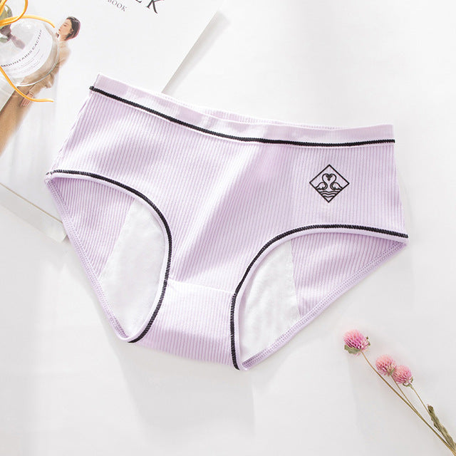 Menstrual Panties For Women Leak Proof Physiological Period Briefs Cotton Waterproof Underwear Female Underpants #F