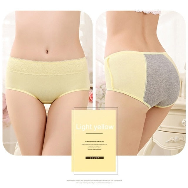 ETOSELL Women Menstrual Period Underwear Ladies Cozy Lace Sexy Panties Seamless Physiological Leakproof Underwear Briefs
