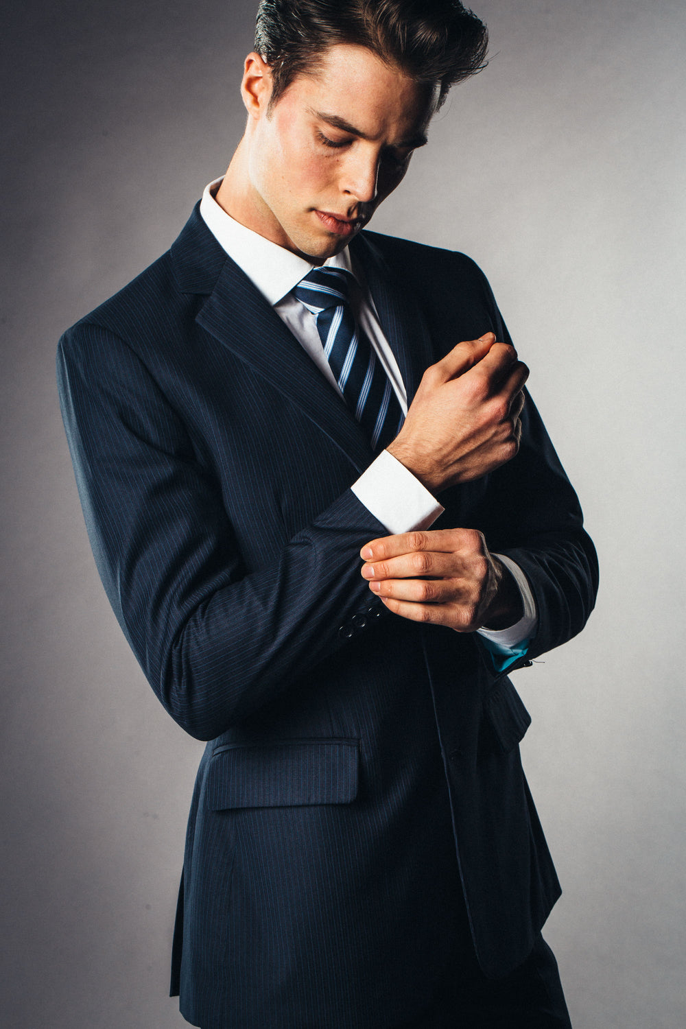 Navy blue custom suit for work
