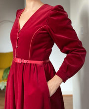 Load image into Gallery viewer, Cherry velvet dress