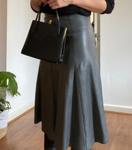 Load image into Gallery viewer, Aria leather midi skirt