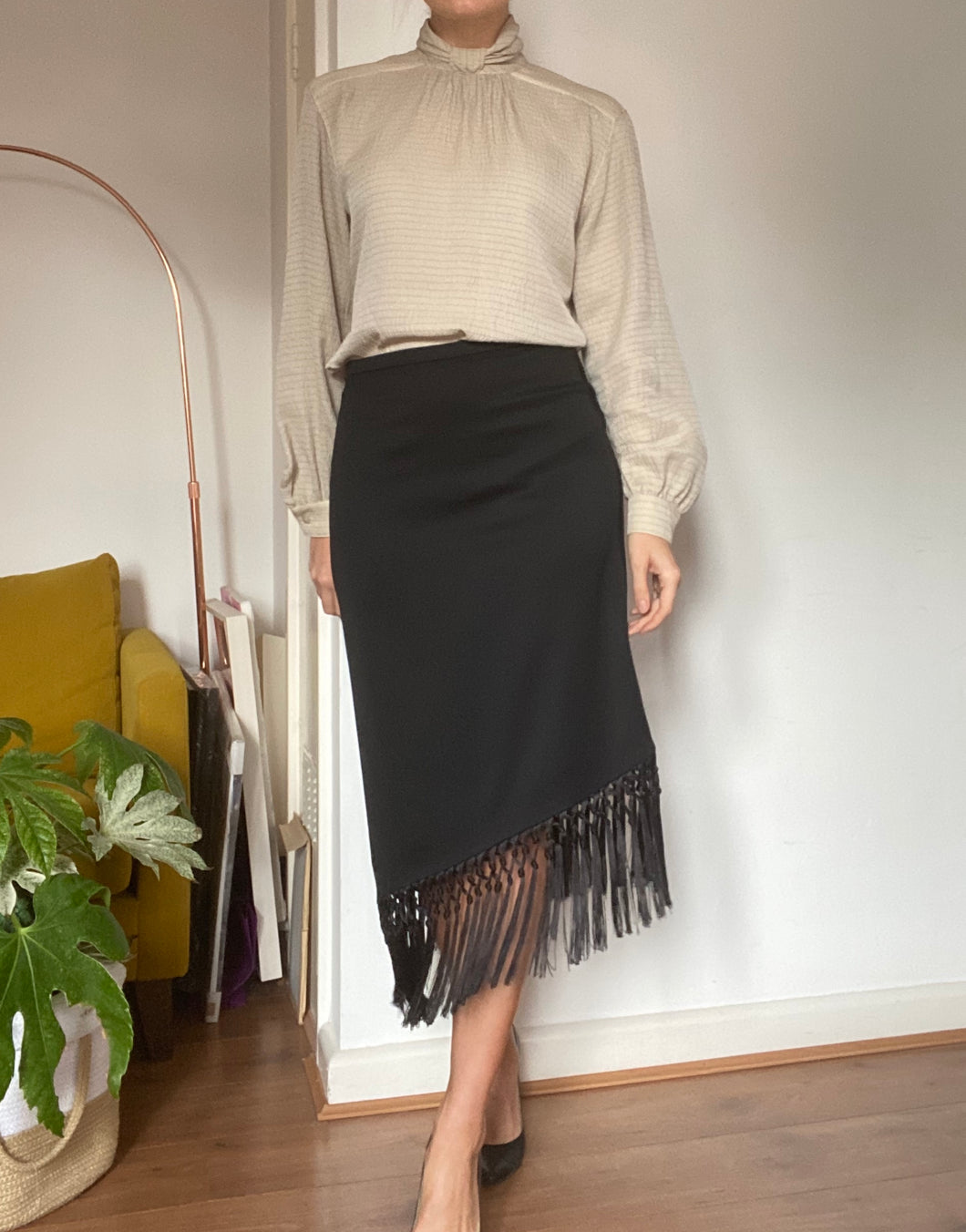 ESCADA tassel asymetric skirt