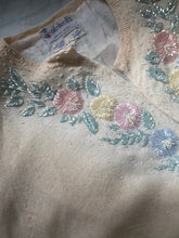 Load image into Gallery viewer, Gisele wool 1950s beaded cardigan