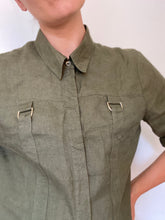 Load image into Gallery viewer, Lexi - Khaki linen shirt