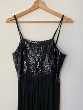 Load image into Gallery viewer, Bruce Oldfield black sequin midi dress
