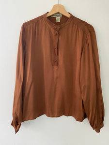 Topaz silk tunic shirt