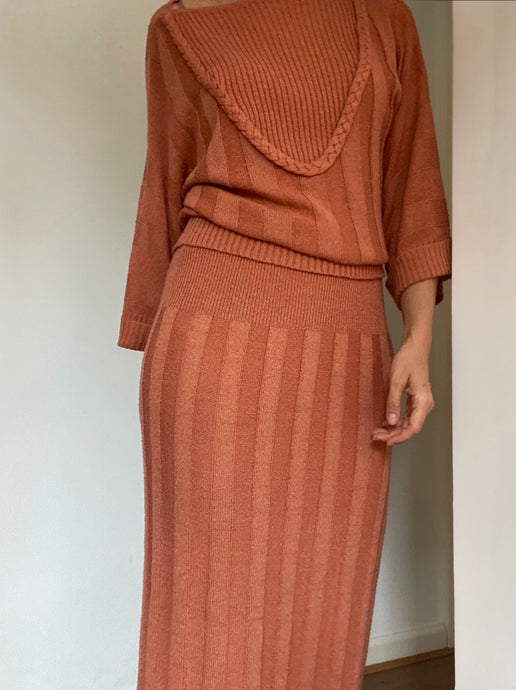 Rust knitted co-ord