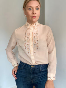 Hannah Cross-stitched shirt