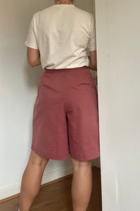 Washed pink high waisted culottes - UK Size 10- 14