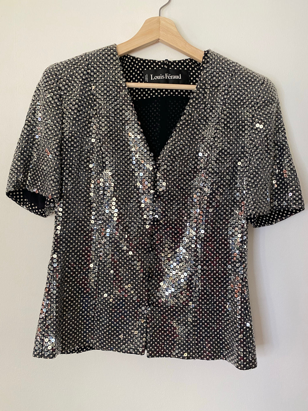 Sadie silk short sleeve sequin jacket