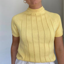 Load image into Gallery viewer, Steffi short sleeve hand knit