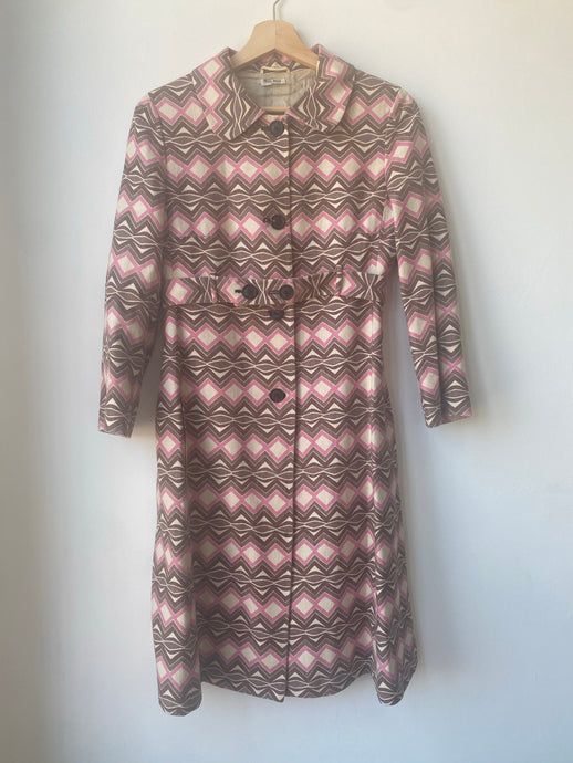 Vintage Miu Miu lightweight printed dress coat.