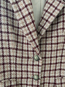 Jaeger check silk & wool boucle blazer