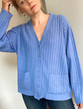 Load image into Gallery viewer, Carly blue cable cardigan