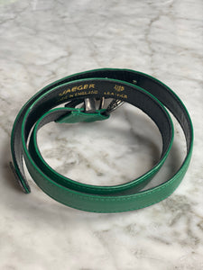 Jaeger green leather belt