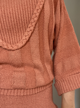 Load image into Gallery viewer, Rust knitted co-ord
