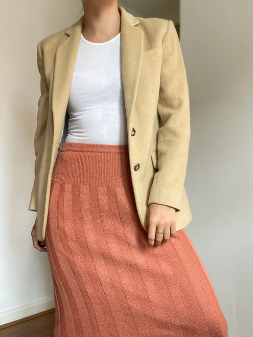 Cady Camel Wool and Angora Blazer