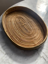 Load image into Gallery viewer, Rattan and brass detail tray