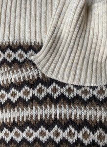 Scandinavian neutral wool knit roll neck