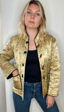 Load image into Gallery viewer, Gold Chinese padded jacket