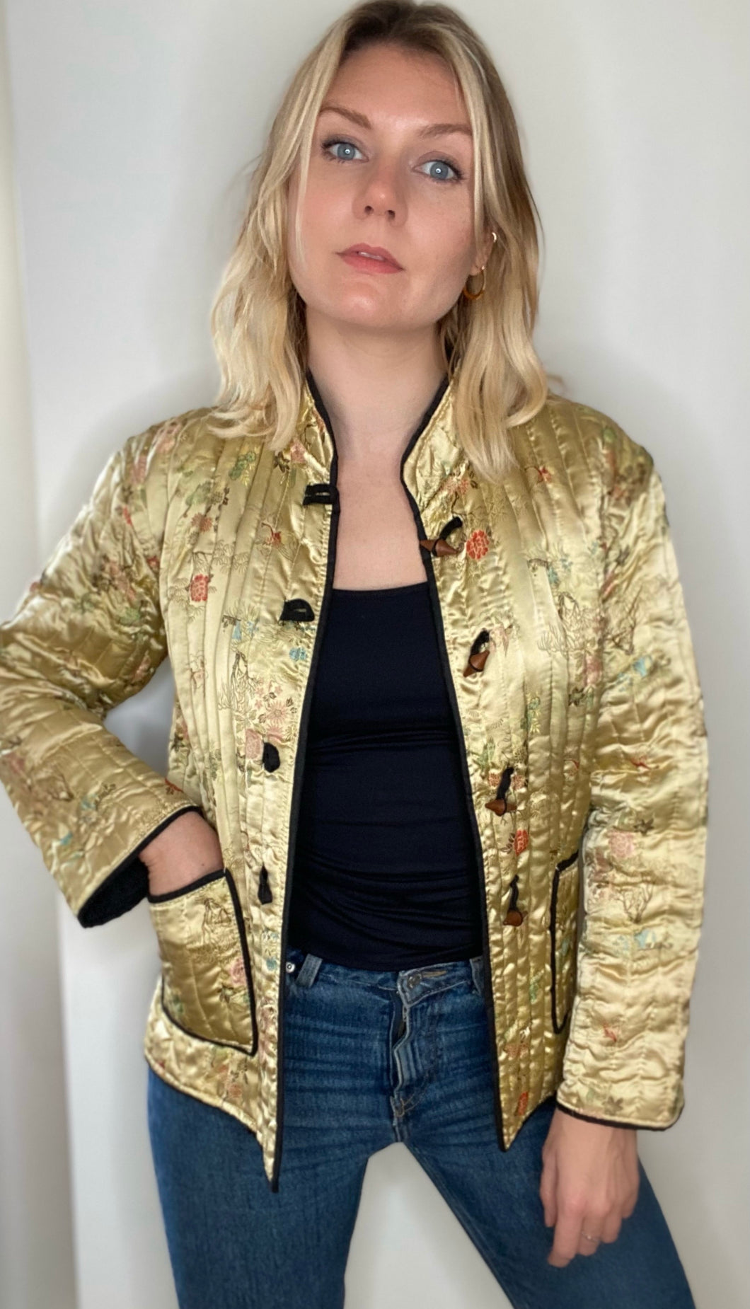Gold Chinese padded jacket