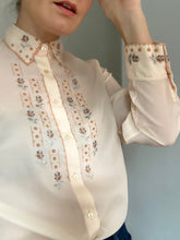 Load image into Gallery viewer, Hannah Cross-stitched shirt