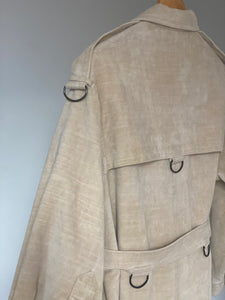 80s d-ring detail Jaeger coat.