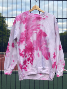 On Wednesdays we wear Pink  -  Large Hand tie dyed sweat