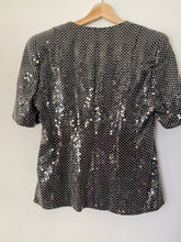 Load image into Gallery viewer, Sadie silk short sleeve sequin jacket