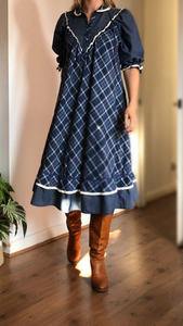 Emma checked dress