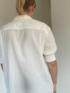 Nicole Farhi 80s embroidered shirt