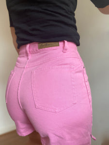 Pink denim Bill Blass jean shorts