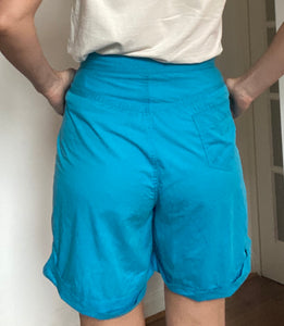 Turquoise vintage high waisted culottes - Waist 29 inches