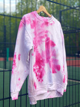 Load image into Gallery viewer, On Wednesdays we wear Pink  -  Large Hand tie dyed sweat