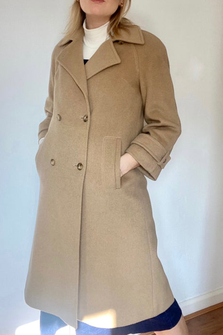 90s wool and camel hair coat from Windsmoor