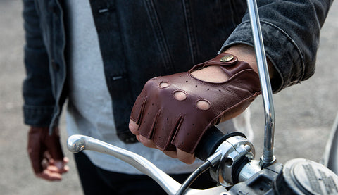 men's fingerless driving glove