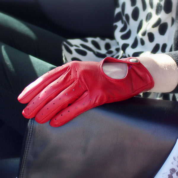 Dents Thruxton Driving Gloves in Berry