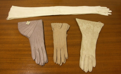 Selection of women's gloves from Dents museum collection