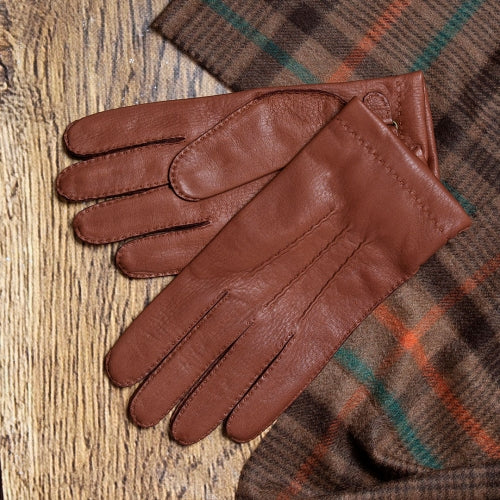 Canterbury - Men's Cashmere Lined Deerskin Leather Gloves