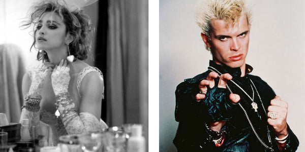 Madonna & Billy Idol fingerless gloves