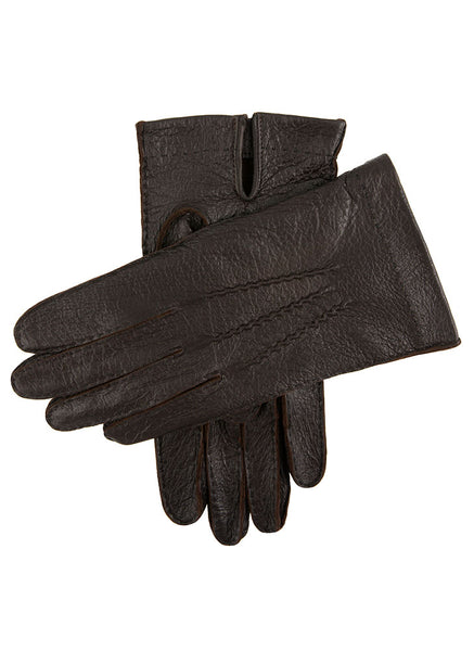 Men's Handsewn Unlined Peccary Leather Gloves
