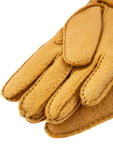 Men's Handsewn Cashmere Lined Peccary Leather Gloves