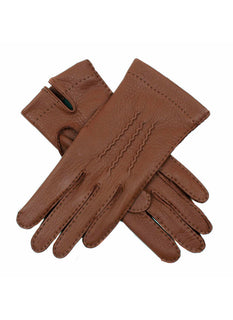 Women's Silk Lined Deerskin Leather Gloves